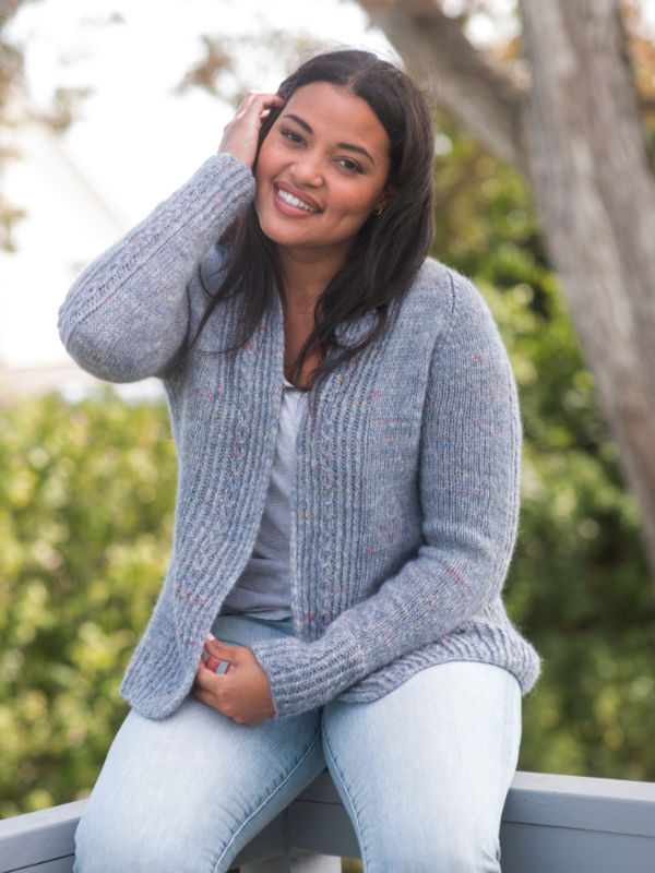 Free knitting pattern for a cardigan for women