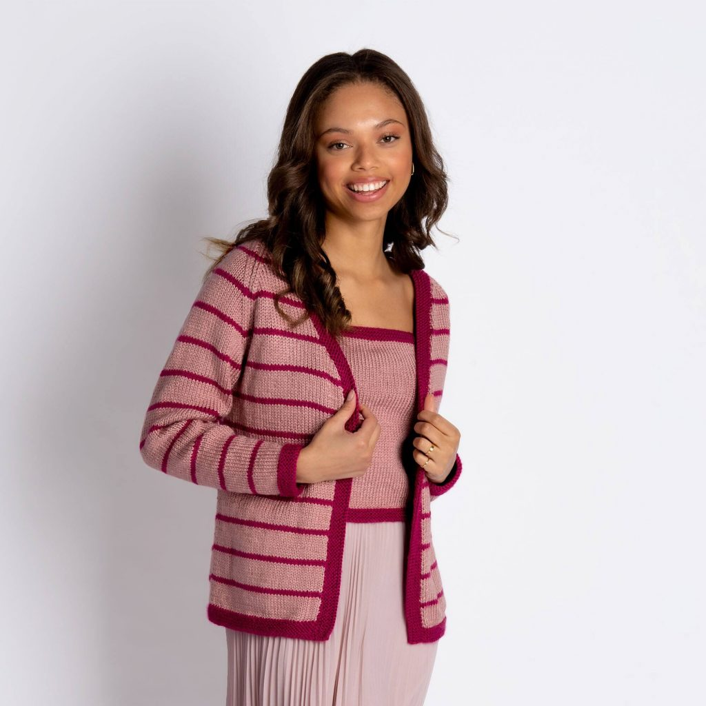 Free knitting pattern for an easy cardigan